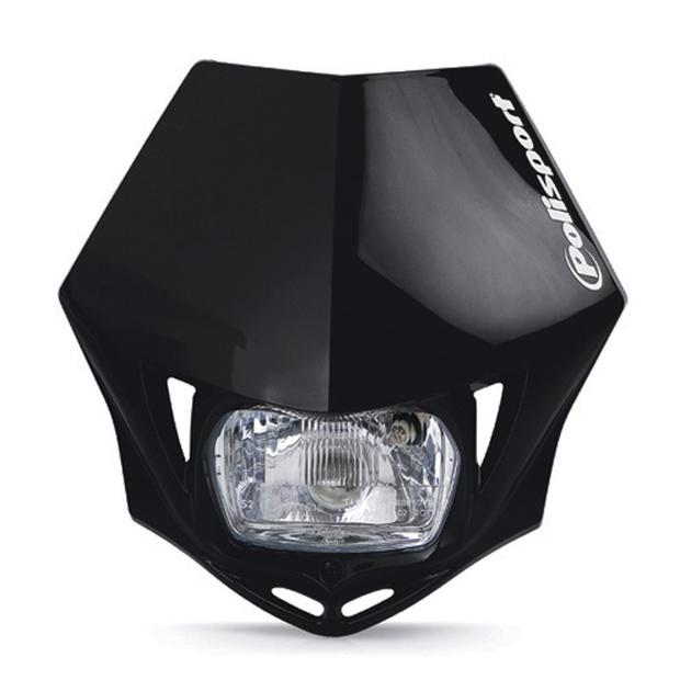 Headlight black MMX universal for motorcycle