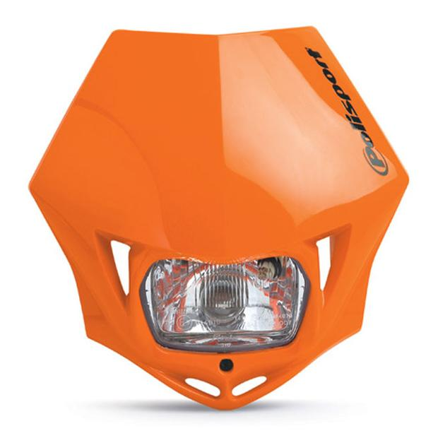 Headlight orange MMX universal for motorcycle