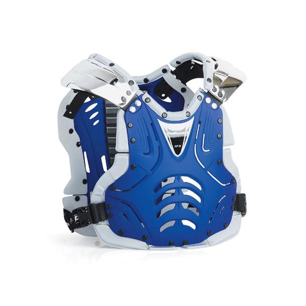 Chest Protector XP2 for adult blue matte / chrome