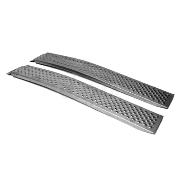 ALU-2 pcs curved ramp for quad, ATV, motorcycles, mowers,...