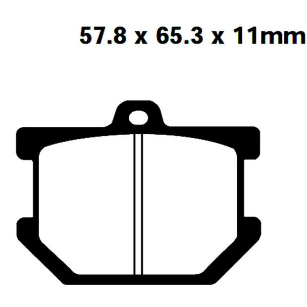 Brake pads rear-front for Yamaha SR500 XJ650