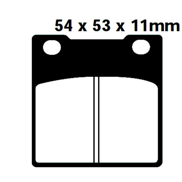 Front brake pads for Honda CB250,400 650,750-CM400