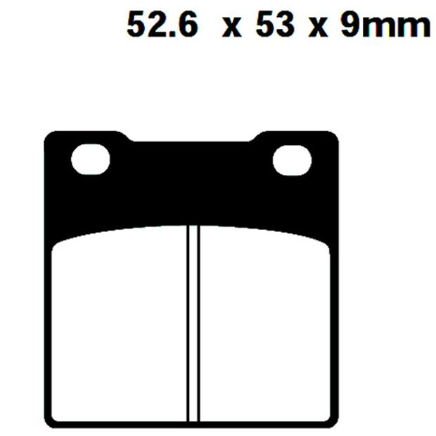 Brake pads rear for Suzuki GS,GSF,GSX,RG, RF, SV, RGV, TL