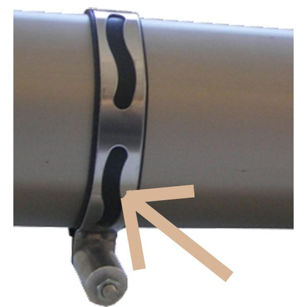clamp exhaust XRW