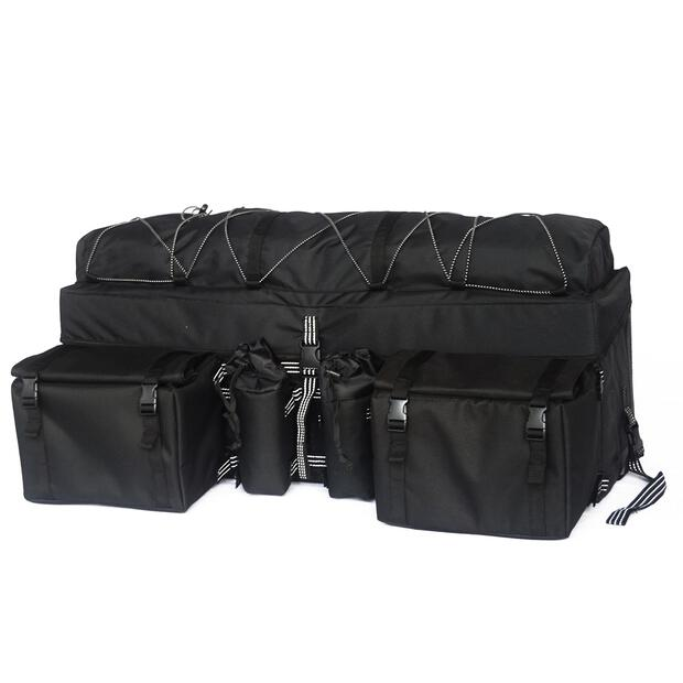 Black 33 ATV Rear Rack Soft-Luggage Storage Cargo Gear...