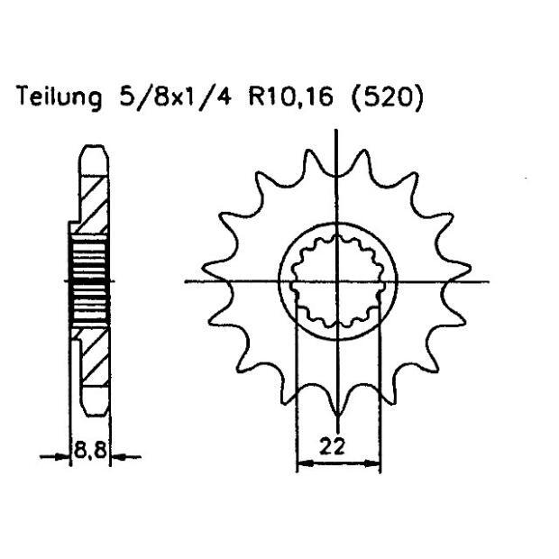 Kupplungszug f/ür LC4-E 640 2001 49 PS 36 kw